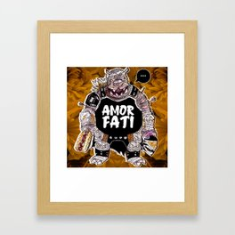 Armored Fatty Framed Art Print