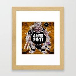 Armored Fatty Framed Art Print