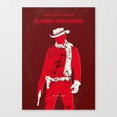 No184 My Django Unchained minimal movie poster Canvas Print