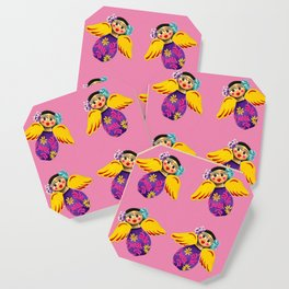 Mexican Angels Hot Pink Coaster