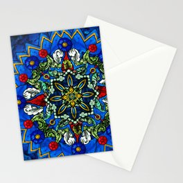Lighted Rose Window Collage Stationery Cards