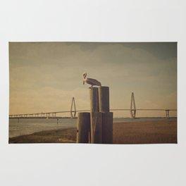 Pelican at the Cooper River Bridge Rug