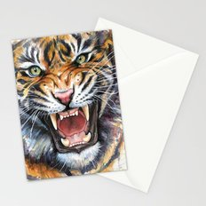 Tiger Roaring Wild Jungle Animal Stationery Cards