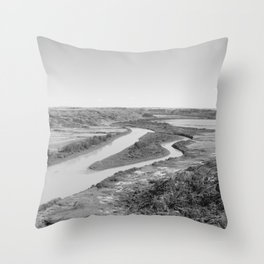 River Drumheller Badlands Throw Pillow