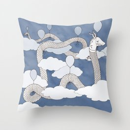Air Dragon Throw Pillow