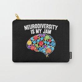 Neurodiversity Is My Jam Rainbow Brain Autism ADHD Carry-All Pouch