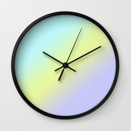 Pastel Ombre.Gradient. Wall Clock