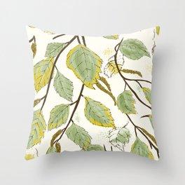 Birch In September Throw Pillow