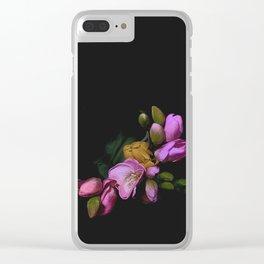 Vintage ikebana Clear iPhone Case