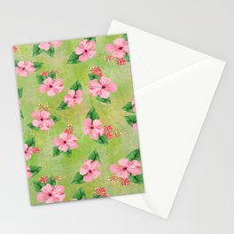 Tropical Flowers Malaysian Inspired Print Stationery Cards