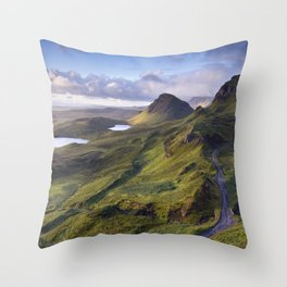 The Lie of the Land Throw Pillow