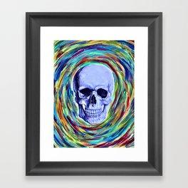 A Skull's Vortex Framed Art Print