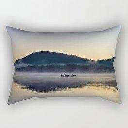 Fishing in the Morning Mist Rectangular Pillow