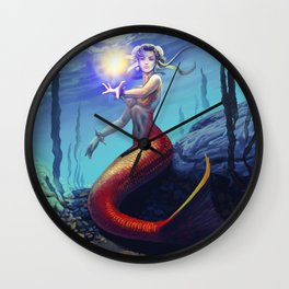 Mermaid Chun Li Wall Clock