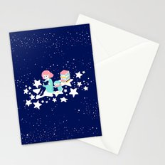 shooting book star Stationery Cards