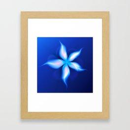 La Fleur Magique de la Sorcière Fractal Framed Art Print