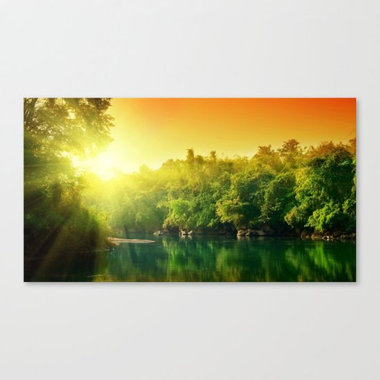 sun green Canvas Print