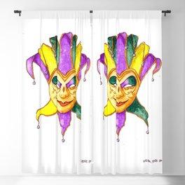 Mardi Gras Mask 1 Blackout Curtain