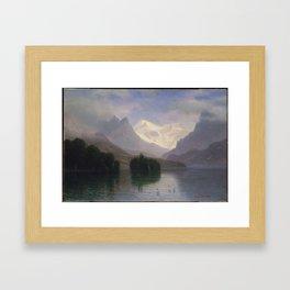 Mountain Scene , Albert Bierstadt Framed Art Print