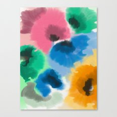 WATERCOLOR FLOWERS 2 Canvas Print