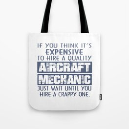 Aircraft Mechanic Tote Bag