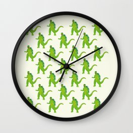 Godzilla pattern Wall Clock