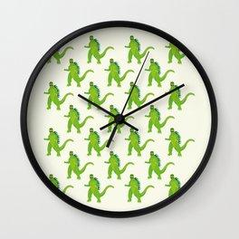 Godzilla pattern Wall Clock