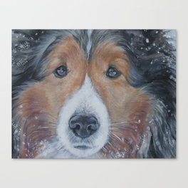 SHELTIE Shetland Sheepdog art portrait from an original painting by L.A.Shepard Canvas Print