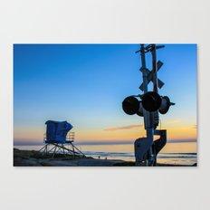 Railroad at the Beach Canvas Print