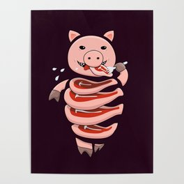 Gluttonous Cannibal Pig Poster