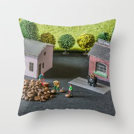The Little Millers Coffee Corporation Throw Pillow