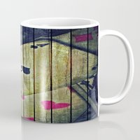 poker Mugs featuring Poker wood  by    Amy Anderson