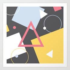 Geo Sprinkles (Black Sesame) Art Print