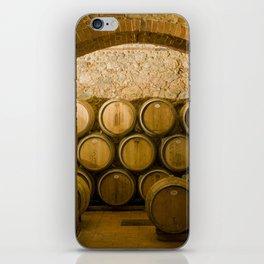 Oak Barrels in Chianti Wine Cellar, Italy iPhone Skin