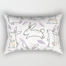 Adorable Bunnies Pattern Rectangular Pillow