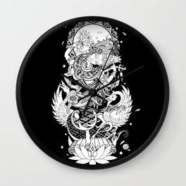 Balinese Saraswati Wall Clock
