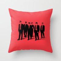 reservoir dogs Throw Pillows featuring Reservoir Dogs by Jason Vaughan