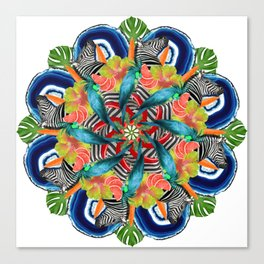 tropic crazyness mandala Canvas Print