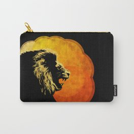 NIGHT PREDATOR : lion silhouette illustration print Carry-All Pouch
