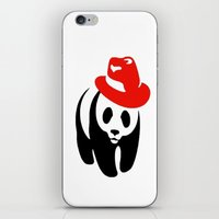 panda iPhone & iPod Skins featuring Panda by ArtSchool