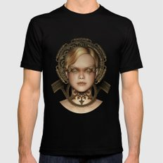Steampunk female machine MEDIUM Mens Fitted Tee Black