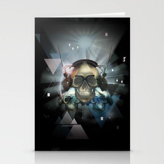 Pyramid skulls Stationery Cards
