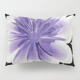 Large Flower Filigree Scroll Floral Art Acrylic Painting Purple Flower Pillow Sham