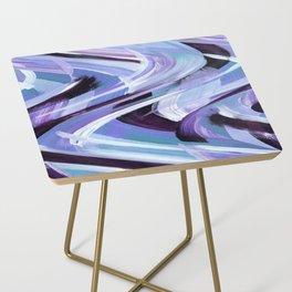 Wavy Blue Side Table
