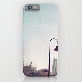 Minneapolis Minnesota Skyline at the Stone Arch Bridge iPhone Case