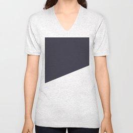 Urban Geometry Navy Blue + White Unisex V-Neck