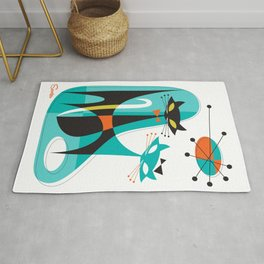 Mod Mix Up Mid Century Modern Cat Art by Art of Scooter Rug