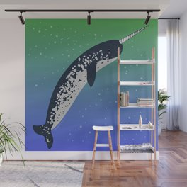 Happy Narwhal Wall Mural