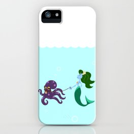 Mermaid and her Octopus iPhone Case