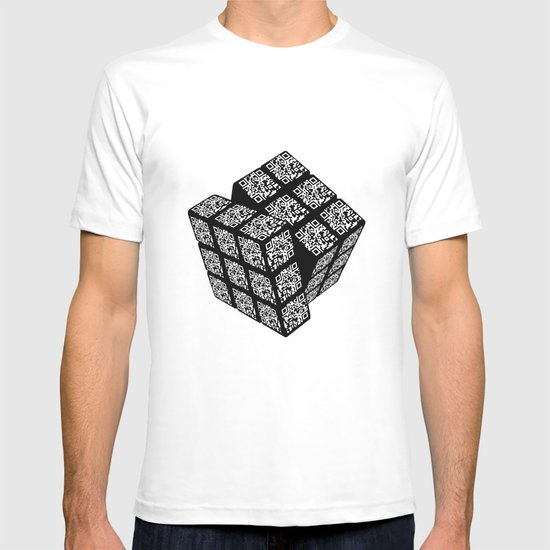 qr cube T-shirt